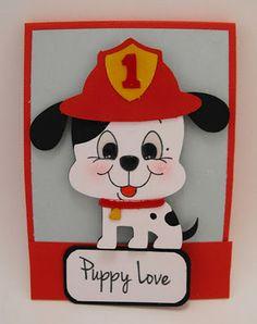 Puppy Love card made with Create a Critter Cricut cartridge