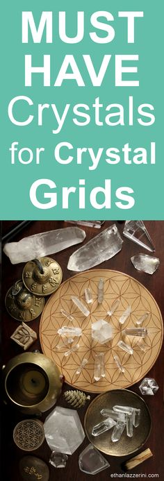 Must have crystals for Crystal Grids. All you need to start gridding. A smart guide for beginners #crystals #crystalgrid