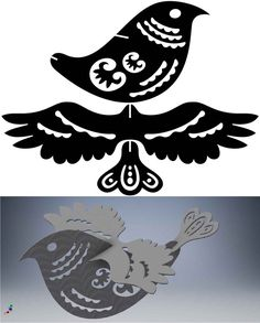3D Puzzle Ornamental Bird and Scorpion - DXF Cut Ready CNC Designs – DXFforCNC.com