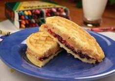 PB&J Waffle Sandwiches | MrFood.com