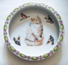 152 Best Antique Cat Plates Images In 2019 Vintage