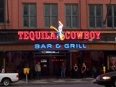 Tequila Cowboy, Nashville, TN.  I had a delicious cowboy burger here in March, 2015.  Huge portions with lots of peppers and cold beer.
