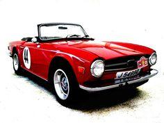 Red Triumph TR6