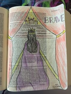 Esther Her bravery to go before the king. Scripture Art, Bible Art, Esther Bible Study, Biblical Symbols, Bible Drawing, Queen Esther, Illustrated Faith, Favorite Bible Verses, Bible Journal