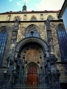 The Tyn Church in Old Town Square Prague, Czechia