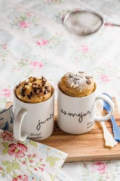 Mug cake cookie Tea Cups, Cake Cookies, Cake In A Jar, Baker Recipes, Crepes, Pudding, Muffins, Sweets, Lunch