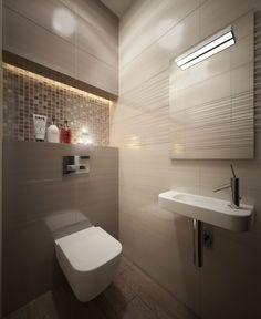Bathroom Design Luxury, Bathroom Design Small, Modern Bathroom, Small Toilet Design, Small Toilet Room, Colorful Interior Design, Interior Design Living Room, Bathroom Niche, Modern Toilet