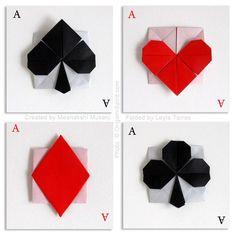 こんなのもできちゃう!折り紙で作るおしゃれなハート