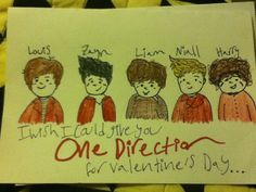 Look at what my friend, who doesn't like One Direction, made me for Valentines!! -ME