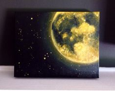 Orange Moon and Stars Acrylic Painting inches Home Accents Cosmic Home Decor Great for accent walls Wall Decor Ready to Ship by GraceAndForm on Etsy Star Painting, Moon Painting, Galaxy Painting, House Painting, Painting & Drawing, Orange Painting, China Painting, Painting Abstract, Grey Wall Decor