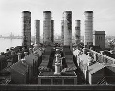 Delaware Station, view looking southwest across roof of the Boiler Houses #fotografia #storia