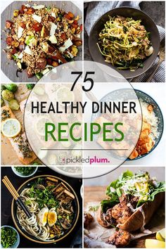 75 Healthy Dinner Recipes Ready In 30 Minutes Or Less - Pickled Plum Food And Drinks Clean Eating Recipes, Quick Easy Meals, Easy Dinner Recipes, Healthy Dinner Recipes, Healthy Eating, Dinner Ideas, Supper Ideas, Healthy Dishes, Simple Recipes