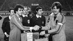 Michel Platini et Ruud Krol 1981