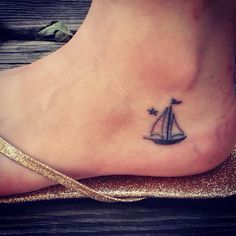miniature tattoos sailboat - Google Search