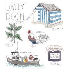 Lovely Devon -Samantha Mabley - Illustration