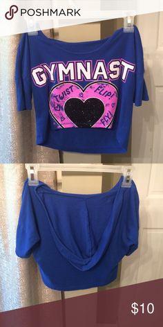 Justice gymnast hoodie Crop top hoodie that is size 8-10. Justice Tops Sweatshirts & Hoodies