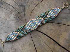 madame bijou: Bracelets - gorgeous tila and seed bead design by Michellebelle1969