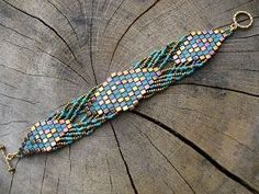 madame bijou: Bracelets - gorgeous tila and seed bead design by Michellebelle1969