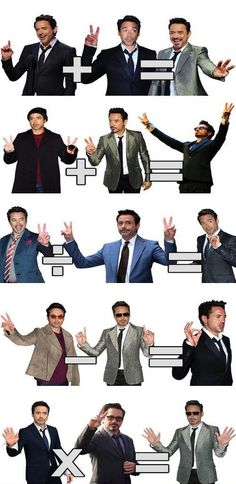 4 simple math, count on Robert Downey Jr's fingers.  :)))