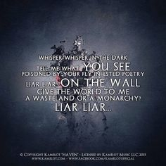 Kamelot ft. Alissa White-Gluz - Liar Liar (Wasteland Monarchy) <<FREAKING LOVE THIS SONG