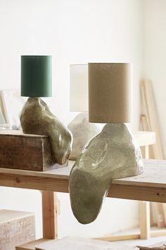 Home Interior Scandinavian Sage ceramic lamp.Home Interior Scandinavian Sage ceramic lamp Plywood Furniture, Furniture Design, Ceramic Furniture, Design Scandinavian, Interior And Exterior, Interior Design, Home Interior, Design Design, Keramik Design