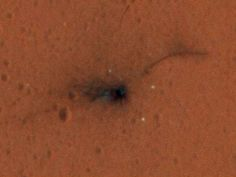 La prima immagine a colori del luogo dello schianto di Schiaparelli su Marte, acquisita dall'MRO - Fornito da IBT Italy
