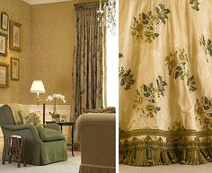 Love these drapes and the fabulous trim!
