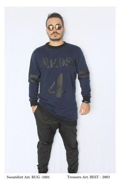 • NEW COLLECTION •   Sweatshirt Mod. RUG - 1001 Trousers Mod. BEST - 2003 Model: Glori Velko  Contact: vekoss4@gmail.com