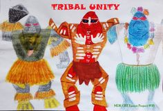 MDK OST Fanart Project #16: Tribal Unity When past meets future Size: A4 Technic: mixed - crayons (robots on the side) + tempera (robot in the middle) Corresponding track: https://www.youtube.com/watch?v=dSQ8IgYwH6U