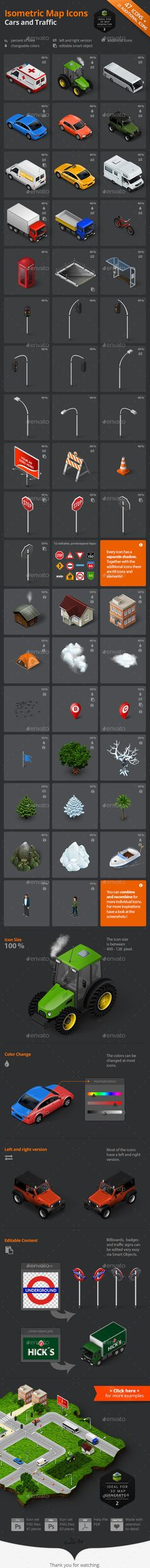 Isometric Map Icons - Cars and Traffic | Buy and Download: http://graphicriver.net/item/isometric-map-icons-cars-and-traffic/8861164?WT.ac=category_thumb&WT.z_author=Orange_Box&ref=ksioks