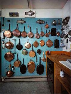 Pegboard -- Julia Child's kitchen.