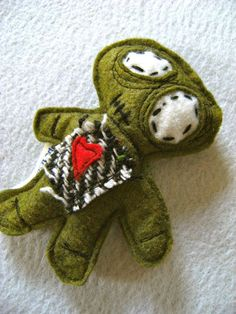 My Lil Zombie Cat Toy Organic CatnipWool Felt by misohandmade, $12.00 - Etsy (A Cool Way For A Man To Play With The Cat)