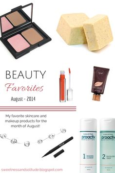 My top makeup and skincare products for the month of August!