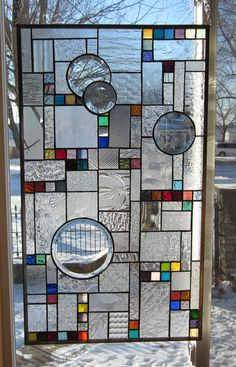 Mona stained glass panel