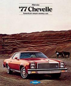 Monte Carlo Z28 Caprice Malibu 1977 Chevrolet Chevelle Literature-12 pages