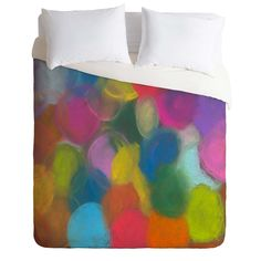 Fresh Artists Blurred Dots Duvet Cover | DENY Designs Home Accessories