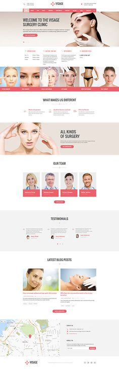 Template 61232 - Visage Plastic Responsive Website Template
