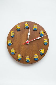 Minion clock kids room decor ideas for children by MustHaveGift