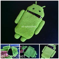 Crochet android phone case
