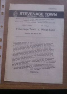 1966/7 Stevenage V King's Lynn FC