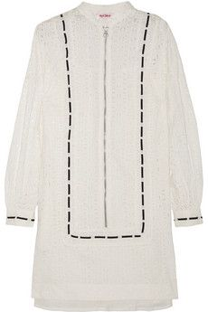 See by Chloé Broderie anglaise cotton mini dress   THE OUTNET
