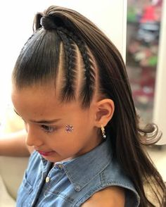 The image may contain: - Acconciature Per Bambina - Baby Hair Lil Girl Hairstyles, Braided Hairstyles, Ariel Hair, Girl Hair Dos, Natural Hair Styles, Short Hair Styles, Hair Upstyles, Toddler Hair, Hair Makeup