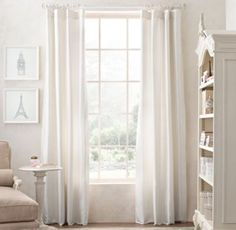 RH Baby & Child's Washed Silk Drapery Panel:Rich dupioni silk is piece dyed, then washed for a soft, casual look with subtle sheen.