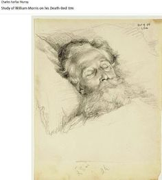 Study of #William_Morris on his Death-Bed by Charles Fairfax Murray, 1896 Housed at Tate Gallery