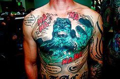 #alternative #alt #inkedguys #inked #inkedmag #tattoo #tattoos #comic