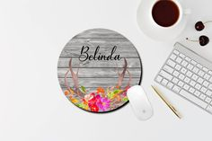 Quotes Marble Rose Gold Foil Print Mouse Pads Stylish Office Accessories 9 x 7.5in