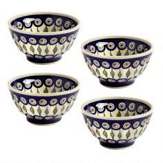 BOLESLAWIEC Polish Pottery Peacock Pattern Ston... - $10.50 ...