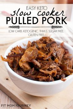 Making easy Slow Cooker Pulled Pork that is ketogenic, low carb, tender, and flavorful is a snap! With a perfectly balanced blend of spices and an almost hands-off approach to cooking, this protein will have a permanent place in your kitchen! Slow Cooker Pork, Slow Cooker Recipes, Keto Recipes, Dinner Recipes, Healthy Recipes, Leftovers Recipes, Roast Recipes, Yummy Recipes, Dinner Ideas