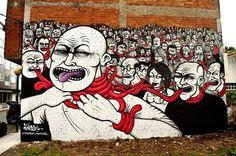 Foto: • ARTIST . SOKRAM •  ◦ Bad Tongues ◦ event: Desordes Creativas location: Ordes, Galiza, Spain #streetart