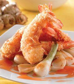 Recetas de camarón con coco